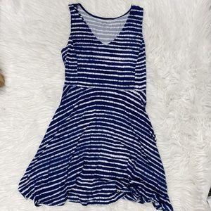 ✨🌻a.n.a Navy Blue & White Striped Dress